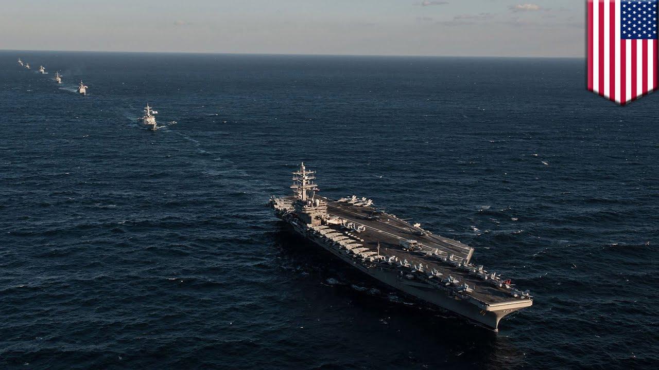 Uss ronald reagan des chasseurs am ricains interceptent des avions russes pr s de la cor e - Liste des porte avions americains ...
