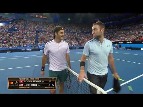 Roger Federer v Jack Sock highlights (RR) | Mastercard Hopman Cup 2018