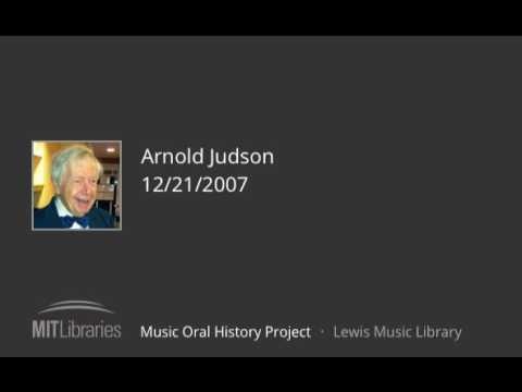 Arnold Judson interview, 12/21/2007