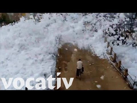 Toxic Foam From Industrial Waste Is Covering This Town