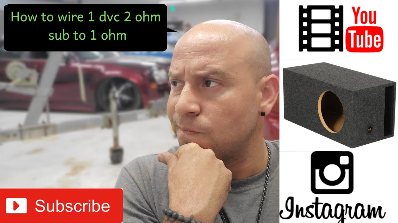 How To Wire 1 Dvc 2ohm Sub Ohm Youtube Wiring Diagram For 4 2 Subs