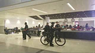 Lax airport police on a  390 woman at lax