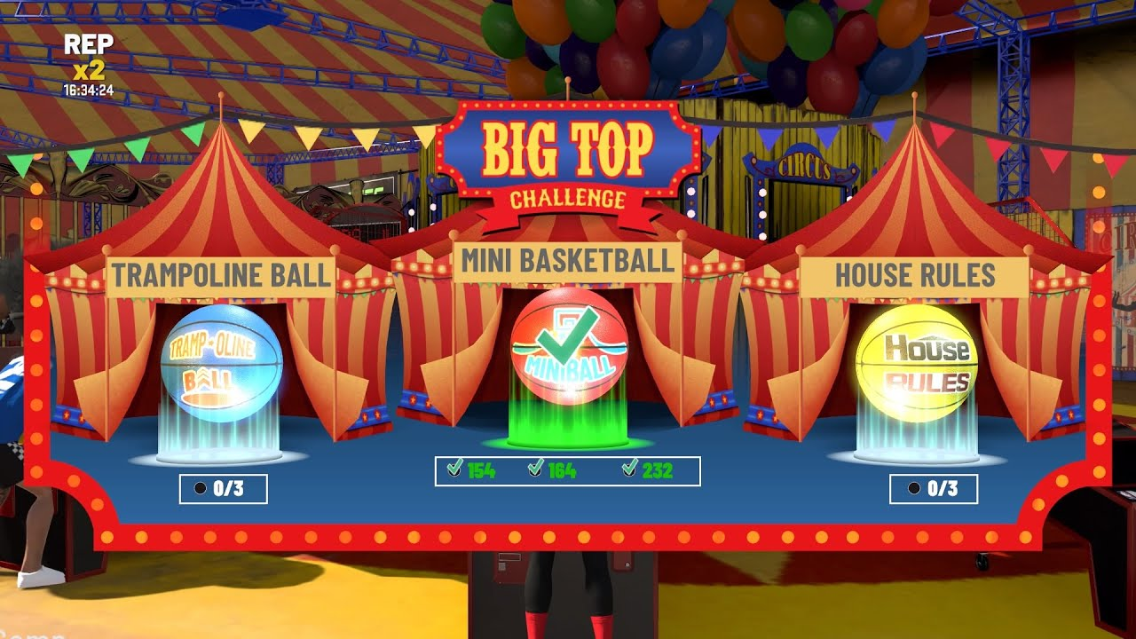 NBA 2K20 HOW TO WIN THE MINI BASKETBALL BIG TOP EVENT FAST AND EASY! How To Win Big Top Challenge!