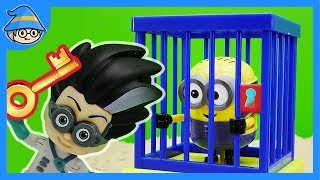 PJ Masks save minions. Get out of the police station jail.