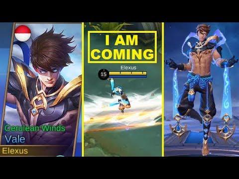 Vale Normal/Second Skin Cerulean Winds Gameplay (Forgotten Hero/Skin) Mobile Legends