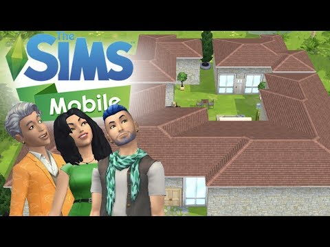 The Sims Mobile - Massive House Speed Build/Remodel - Keeping Up with Cody
