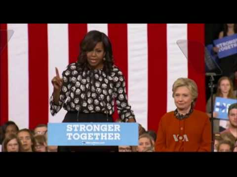 Michelle Obama Stumps With Hillary Clinton as Presidential Race Tightens