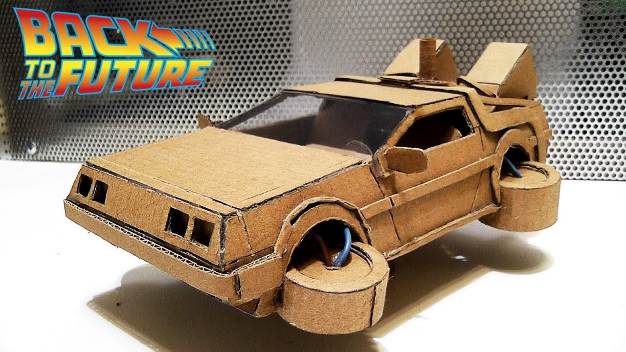 How To Make Delorean Time Machine From Cardboard From