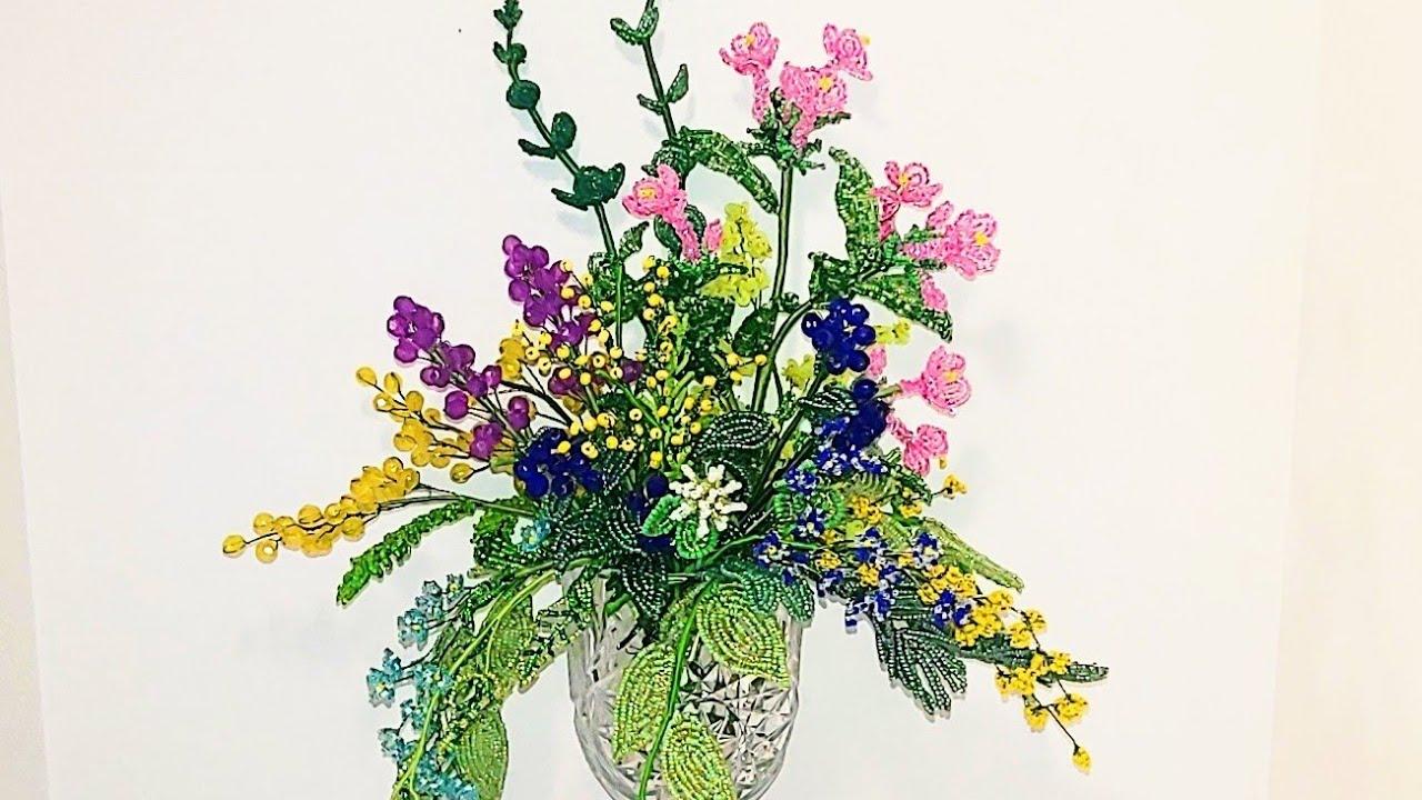 #цветы из бисера КАК СДЕЛАТЬ КОМПОЗИЦИЮ ИЗ БИСЕРА МК от Koshka2015 - цветы из бисера, бисероплетение