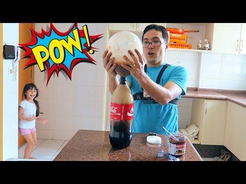 Coke + Nutella + Mentos + Balloon