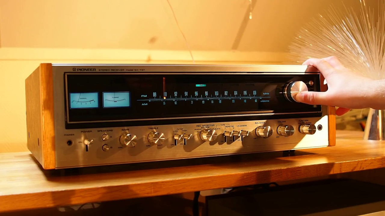 vintage stereo receiver. pioneer sx 737 vintage stereo receiver overview p