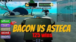 BACON VS ASTECA (125 WIN) STRONG, Boxing Simulator 2, ROBLOX