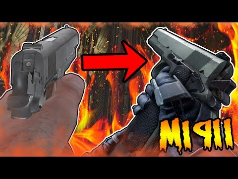 THE M1911 IN ZOMBIES WEAPONS COMPARISON! Call of Duty World at War to Black Ops 3 Zombies Gameplay