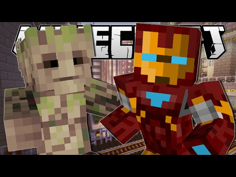 Minecraft | SUPERHERO POWERS!! (Slow Down Time, Groot & Iron Man!) | One Command Creation