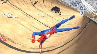 GTA 5 SPIDERMAN Ragdolls Jumps/Falls Compilation #1 (Euphoria physics Funny Moments)