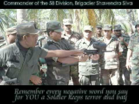 Commander of the 58 Division, Brigadier Shavendra Silva