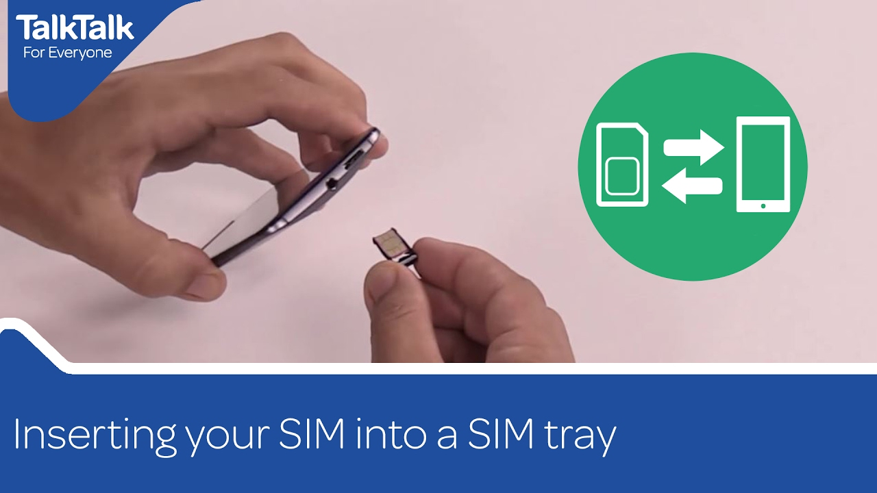 Inserting your SIM into a SIM tray