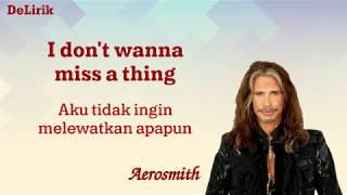 I Don't Wanna Miss a Thing - Aerosmith (Lirik video dan terjemahan)