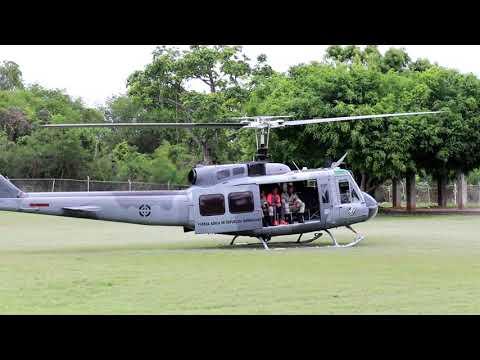 ENTRENAMIENTO EN HELICOPTERO UH-1H CON CADETES DE 4TO. AÑO