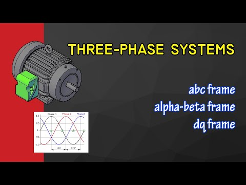 Three-phase representations: abc-frame, αβ-frame and dq-frame
