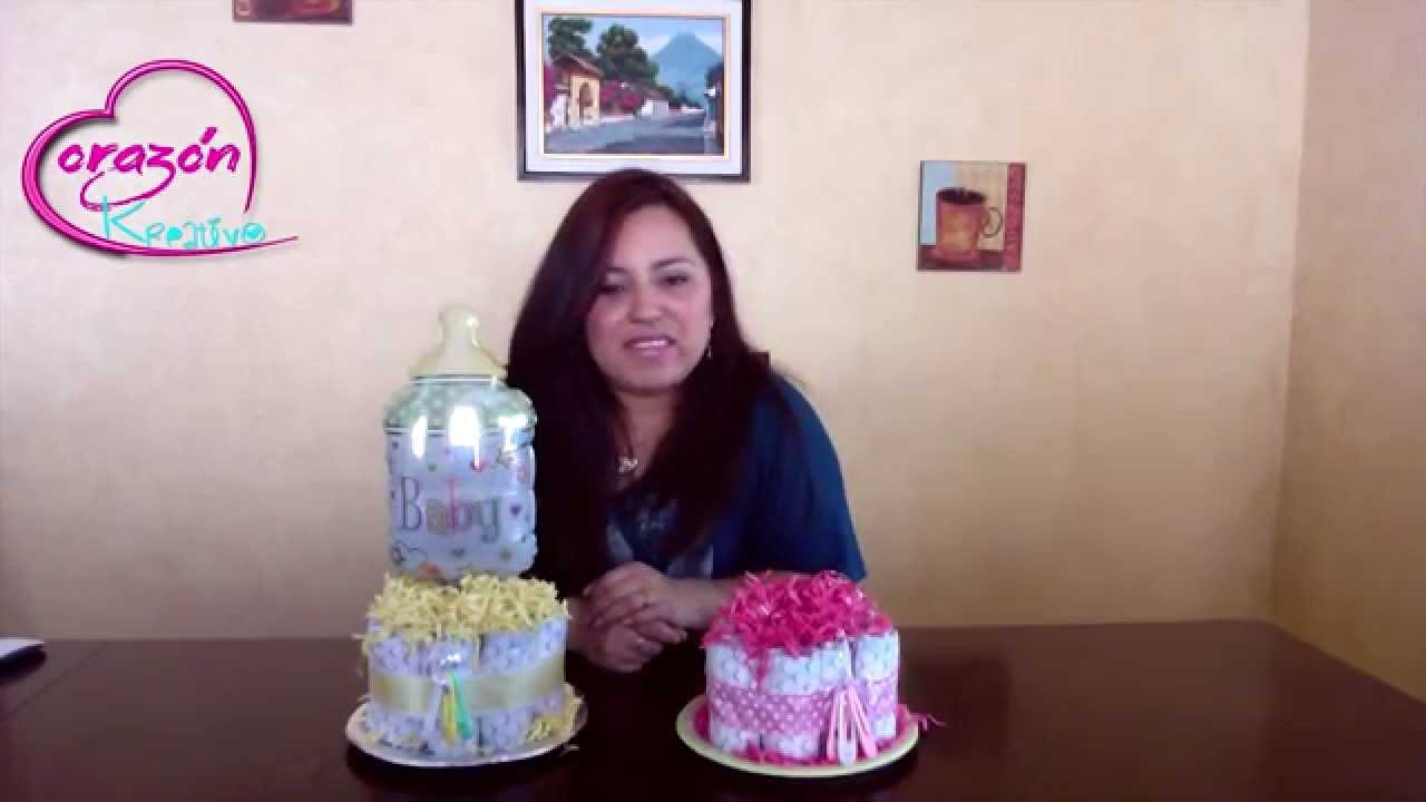 como hacer un centro de mesa para baby shower youtube