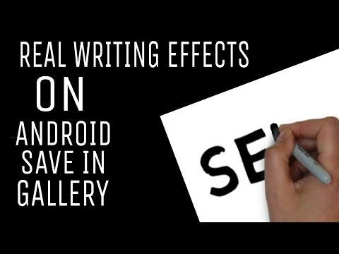 Real writeing effects on Android for free in tamil