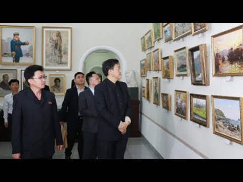 Chinese Delegation Visits Pyongyang University of Fine Arts
