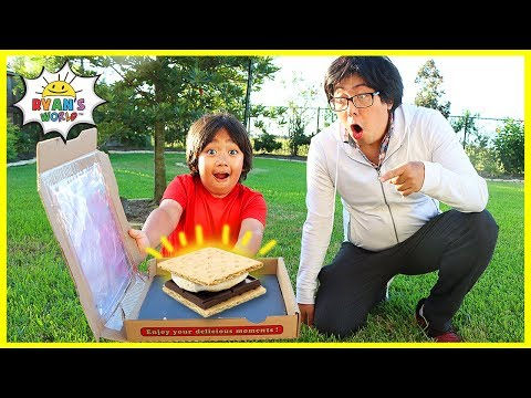 How to make DIY S'mores in a Solar Oven Pizza Box!!!!