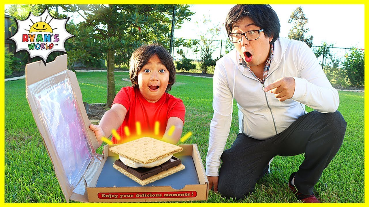 How to make DIY Smores in a Solar Oven Pizza Box!!!!