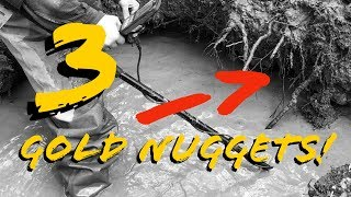 GOLD NUGGETS found in Ancient Creek Bed by Gold Fox Trommel!