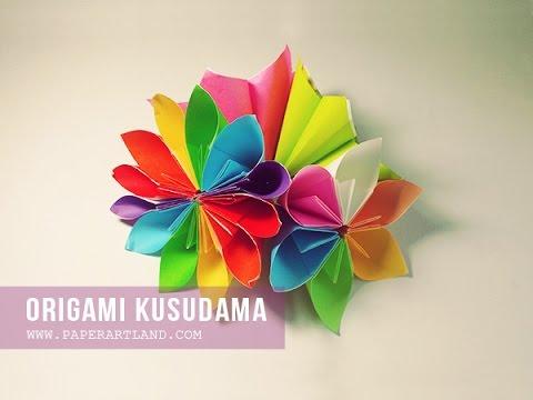 How to Make an Origami Flower ( Flor de Origami) | Origami Kusudama