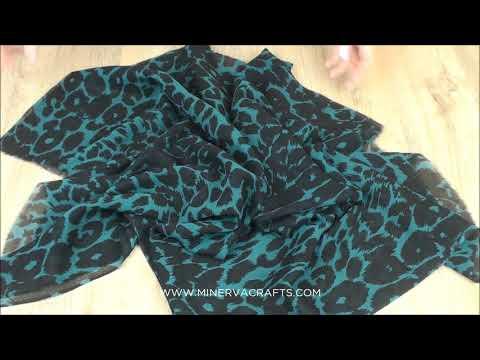 Leopard Print Silk Chiffon Dress Fabric