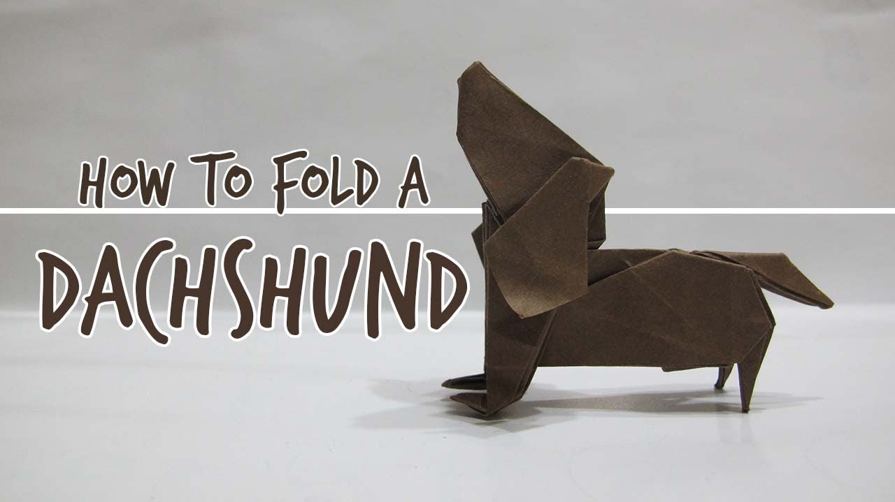 How to fold an origami dog dachshund fuchimoto muneji youtube jeuxipadfo Image collections