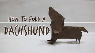 How to fold an Origami Dog - Dachshund (Fuchimoto Muneji)