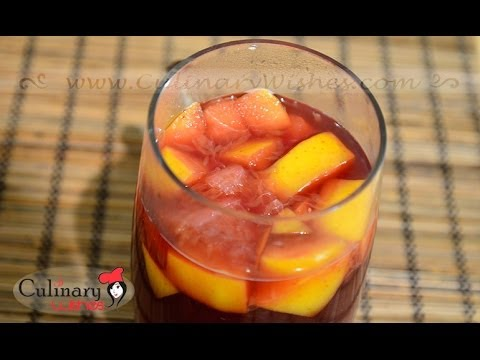 Hot Spiced Wine with Apple and Orange - Mulled Wine Recipe
