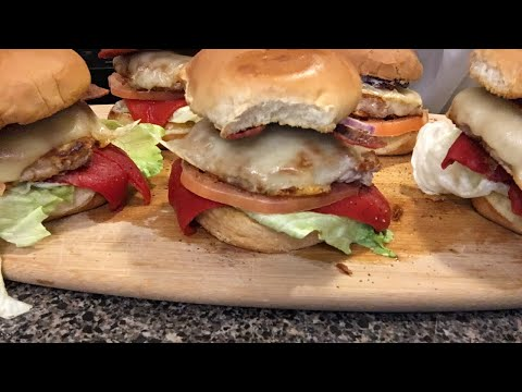 Turkey club burgers mukbang