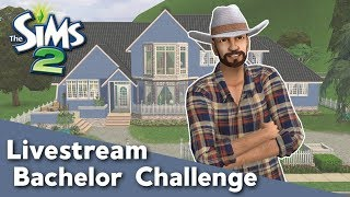 FINDING LOVE FOR EARL | The Sims 2 Bachelor Challenge Livestream | #1