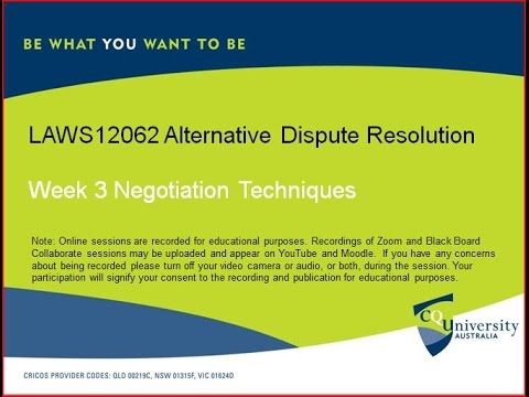 LAWS12062_3 Alternative Dispute Resolution
