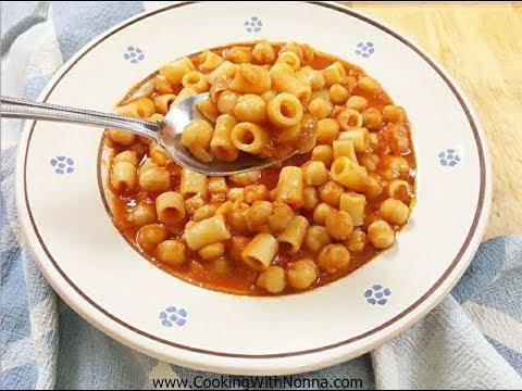 Pasta E Ceci - Chickpeas-  Rossella's Cooking With Nonna