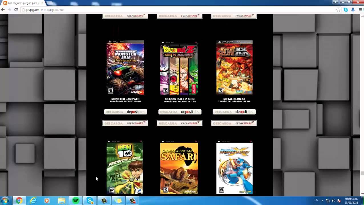 descargar juegos para psp utorrent gratis