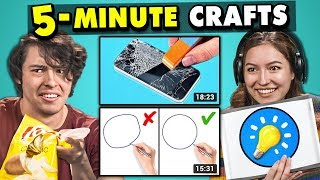 Download Adults React To And Try 5-Minute Crafts (Do They Work?) Mp3 and Videos