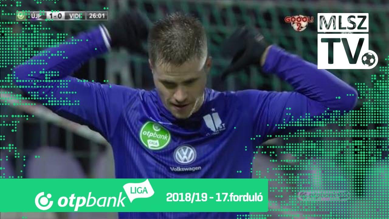 Novothny Soma Zsombor gólja az Újpest FC – Mol Vidi FC mérkőzésen