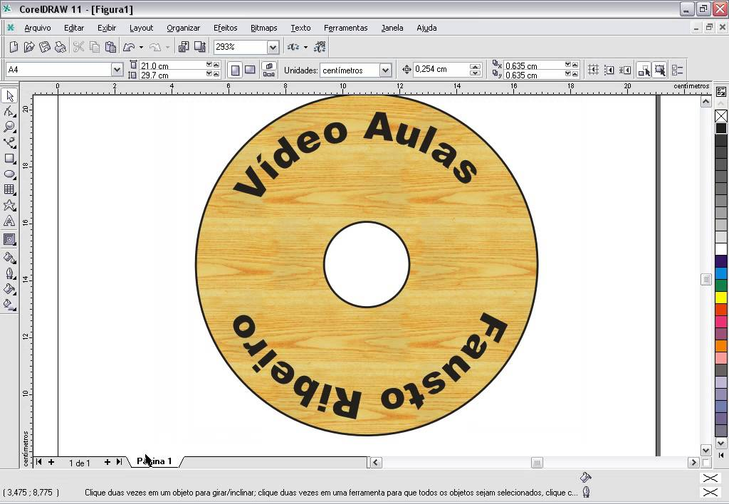 COREL DRAW Aula 45 Criando Etiqueta De CD DVD No Corel Draw YouTube