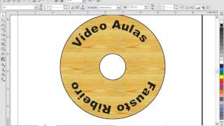 COREL DRAW Aula 45 Criando etiqueta de CD/DVD no Corel Draw