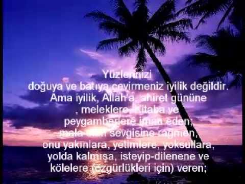 Aziz Kuran'dan Ayet-i Kerimeler... türkçe seslendirme