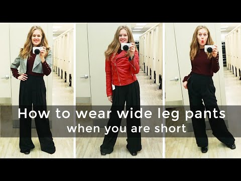 Fall style guide 2018 for women over 40 - how to wear wide leg pants