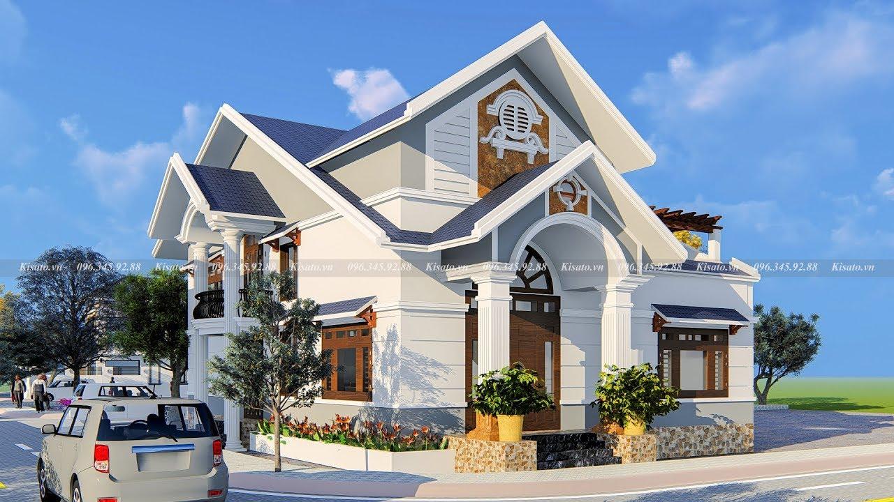 Mẫu Nhà Cấp 4 Đẹp Có Gác Lửng Với 4 Phòng Ngủ Tại Hưng Hà Thái Bình