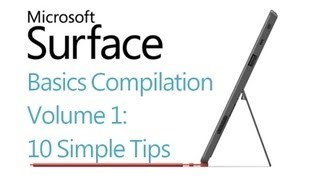 Microsoft Surface RT Tips - Volume 1 (10 tips) - Windows 8