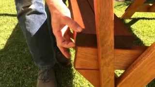 Wooden Foldable Table / Bench