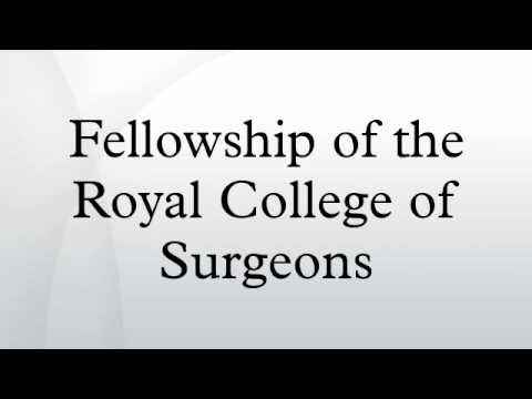 Fellowship of the Royal College of Surgeons